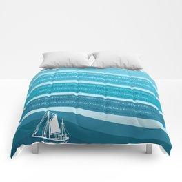 Sea Fever Comforters