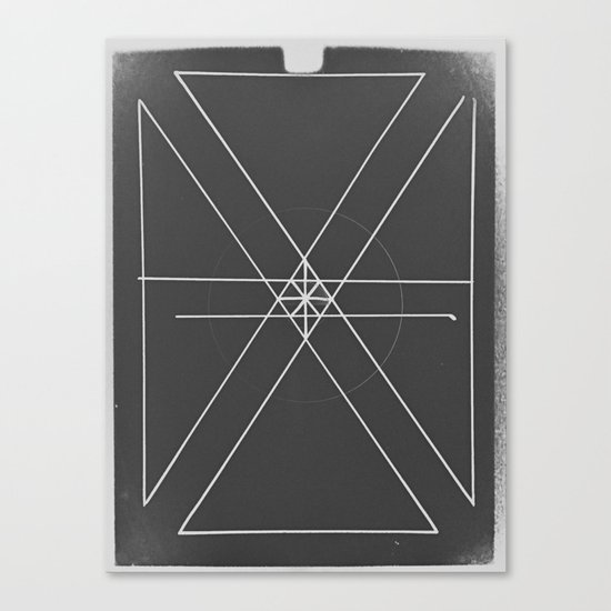 Gray Lines and Crossings Canvas Print