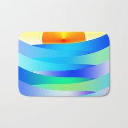 Sunset and Waves Bath Mat