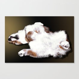 Relax Like A Puppy Canvas Print