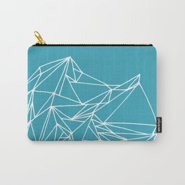 Geometric pattern 01 minimalistic triangles white on teal Carry-All Pouch