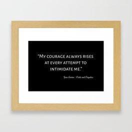 The Pride and Prejudice Quote I Framed Art Print