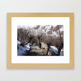 Drawing Water From The Well Framed Art Print