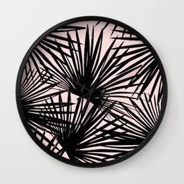 Tropical Fan Palm Leaves #1 #tropical #decor #art #society6 Wall Clock