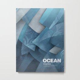 Ocean poster Metal Print