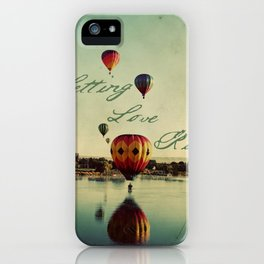 Letting Love Rise iPhone Case
