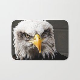 Mean Bald Eagle Bath Mat