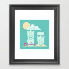 Easter Island Summer Fun Framed Art Print