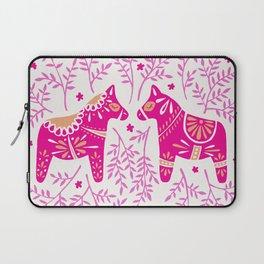 Swedish Dala Horses – Pink Palette Laptop Sleeve