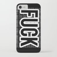 fuck you iPhone & iPod Cases featuring FUCK by HesStillKidrauhl