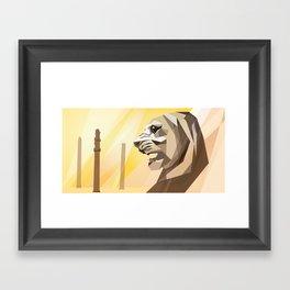 persepolis lion Framed Art Print