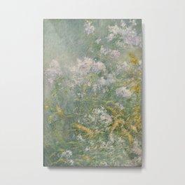 John Henry Twachtman (American, 1853-1902). Meadow Flowers (Golden Rod and Wild Aster), ca. 1892 Metal Print