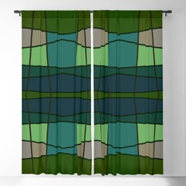 Green Pattern Turtle Blackout Curtain
