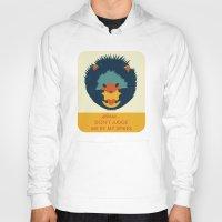 hedgehog Hoodies featuring Hedgehog by Ariel Wilson