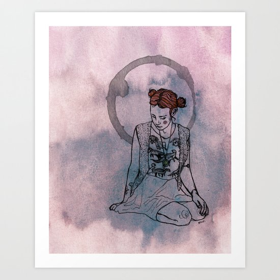 sittin Art Print