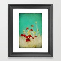 Bloom in Red Framed Art Print