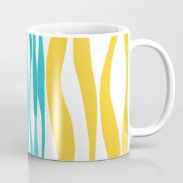 Ebb and Flow - Turquoise & Yellow Coffee Mug