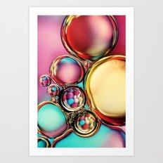 Oil & Water with Candy Art Print