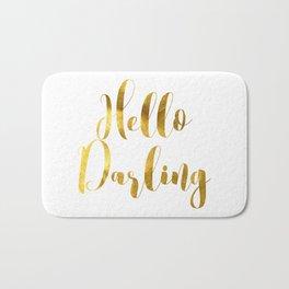 Hello Darling in Gold V1 Bath Mat