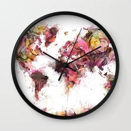 World Map 2033 Wall Clock