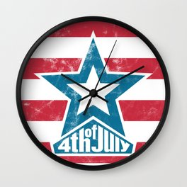 Happy 4th of July - independence day Wall Clock