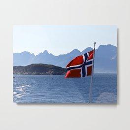 flag of Norway Metal Print