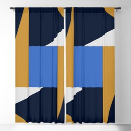 Abstract Geometric Blackout Curtain
