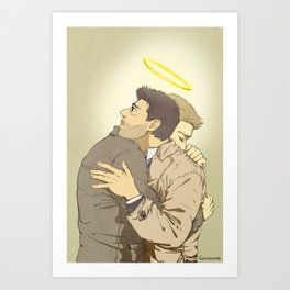 a tight hug Art Print