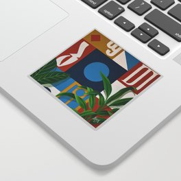 Geo Alphabet #1 Sticker