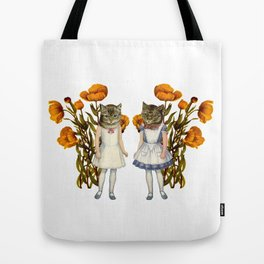 Shabby Chic Anthropomorphic Cats Tote Bag