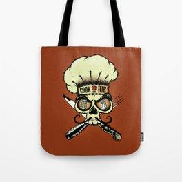 Cook or die!Chef's skull Tote Bag