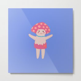 Pink Mushroom Metal Print