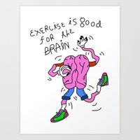 Dancing Brain Art Print
