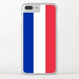 Flag of France, Authentic color & scale Clear iPhone Case