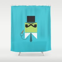 persona Shower Curtains featuring Persona Series 003 by Sobriquet Studio