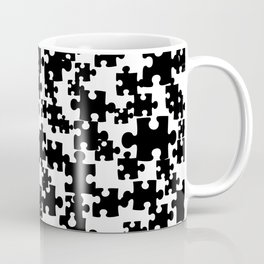 Puzzle Graphic DESIGN black and white Coffee Mug