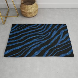 Ripped SpaceTime Stripes - Glitter Blue Rug