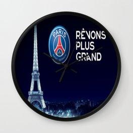 Paris Saint Germain PSG : Revons Plus Grand Wall Clock