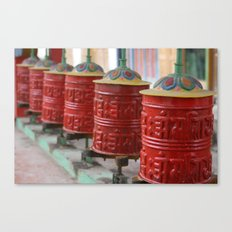 Red Prayers Turning Canvas Print