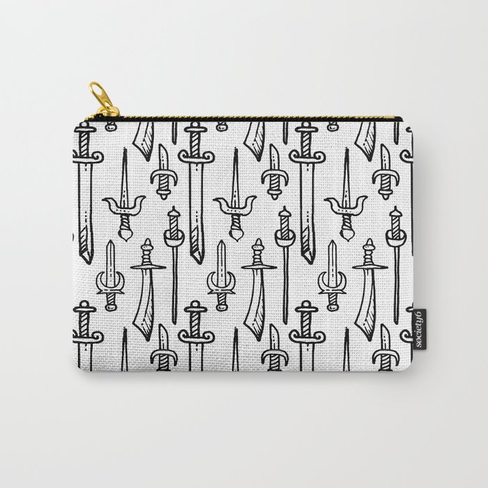 Swords & Daggers Pattern Carry-All Pouch