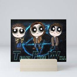 Team Free Will for life Mini Art Print