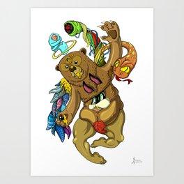 Censored honey eye Art Print