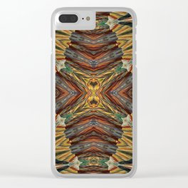 Seamless Kaleidoscope Colorful Pattern XXV Clear iPhone Case