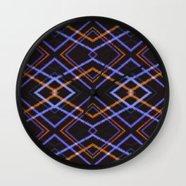 Intersecting Diamonds Motif  Pattern Wall Clock