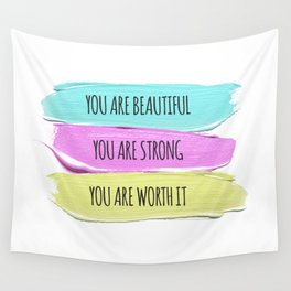 Self Worth Love Wall Tapestry