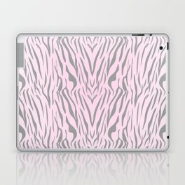 Hipster blush pink gray abstract zebra animal print Laptop & iPad Skin