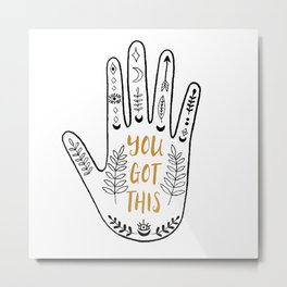 You Got This - Mystic Hamsa/Fatima Hand Metal Print