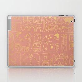 Mayan glyphs - rosegold palette Laptop & iPad Skin