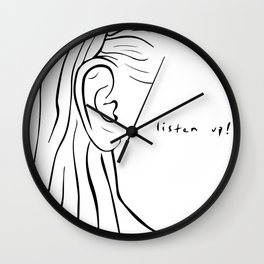 LISTEN UP Wall Clock