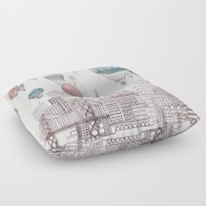 Voyages Over San Francisco Floor Pillow
